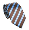Brown and Blue Stripes Tie