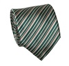 Beige and Green Stripes Tie