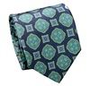 Blue Silk Tie with Florentine Design