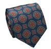 Dark Blue Silk Tie with Florentine Design