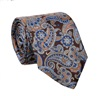 Brown Natural Silk Paisley Tie and Pocket Square