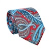Red Paisley Natural Silk Tie and Pocket Square