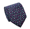 Green and Pink Flowers Silk Tie and Pocket Square