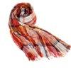 Orange Checked Foulard