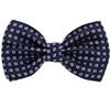 Blue Bow Tie with White Daisies