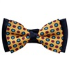 Dark Blue and Yellow Boy's Bow Tie with Daisies
