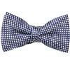 Dark Blue Boy's Bow Tie with White Dots