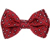 Garnet Silk Boys' Bow Tie with White Dots