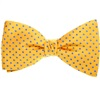 Yellow Bow Tie and Pocket Square Silk with Dots