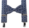 Blue Paisley Braces and Bow Tie