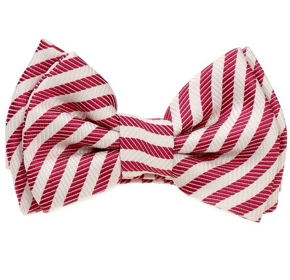 Red and White Stripes Baby's Bow Tie