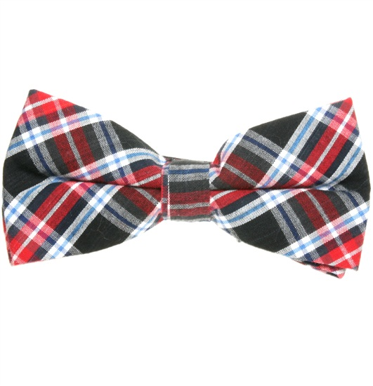 Red, Black and Blue Tartan Bow Tie