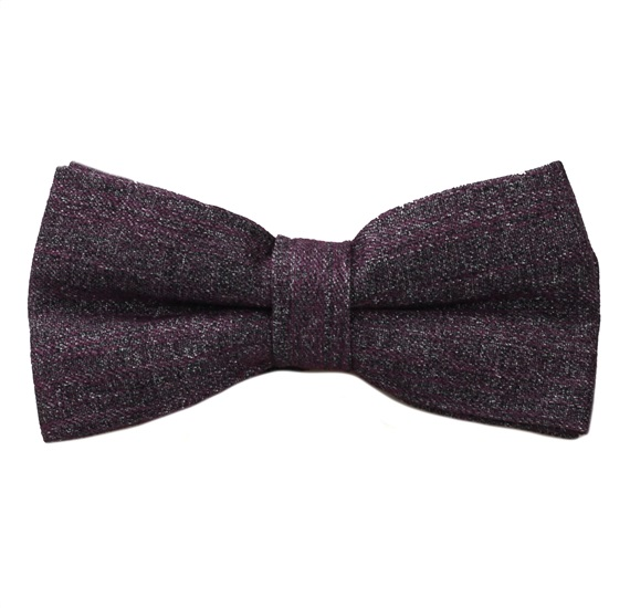 Eggplant Colour Bow Tie Marbled