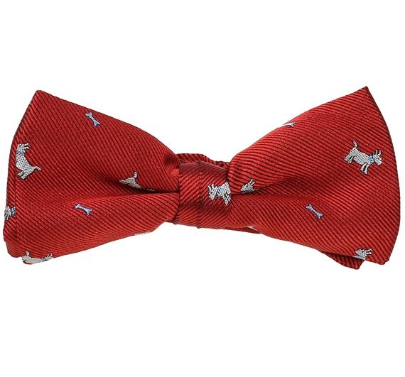 b4e1ddde05d1 Garnet Boys' Bow Tie with White Schnauzer - Purchase online from our  Internet store