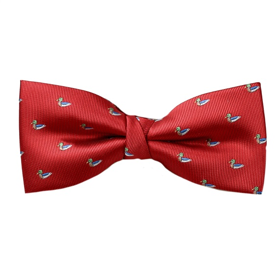 Red Bow Tie with Ducks