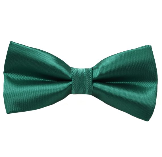 Green Emerald Satin Bow Tie