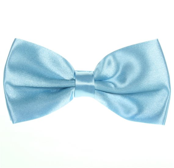 Sky Blue Bow Tie and Pocket Square