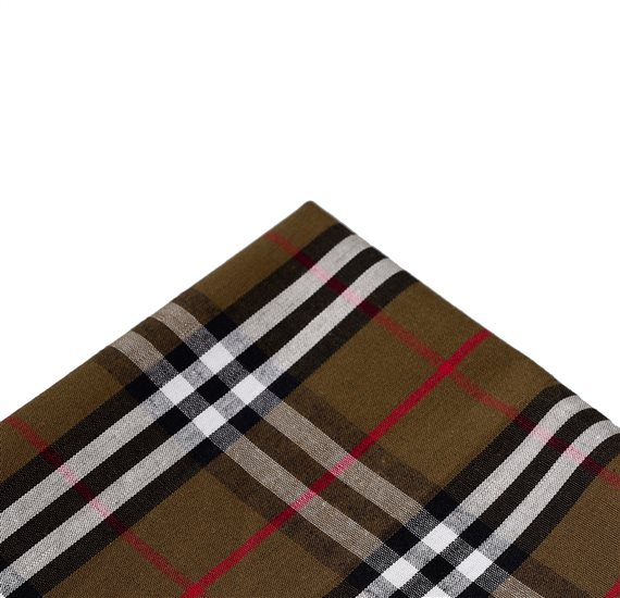 Green Tartan Pocket Square