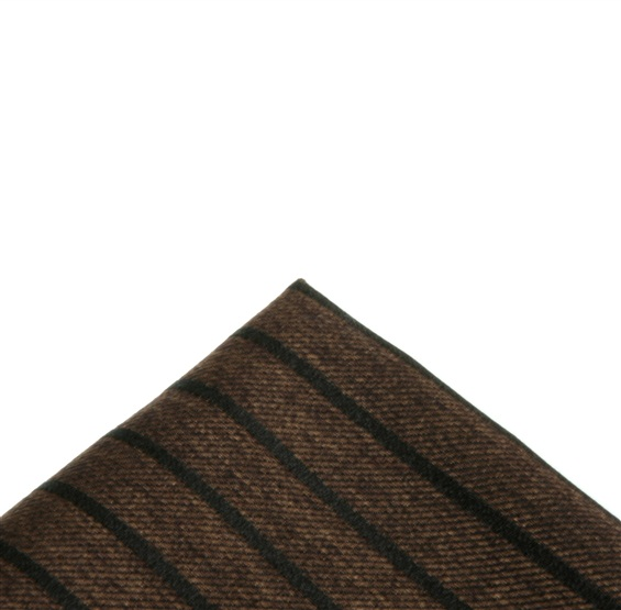 Brown Stripes Pocket Square