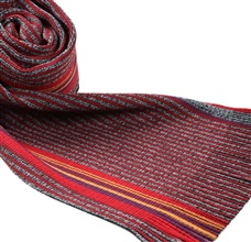 Red and Grey Stripes Scarf