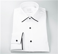 White Dress Shirt and Black Trim