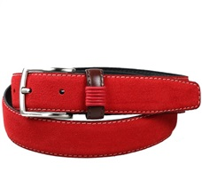 Teenager's Red Suede Belt