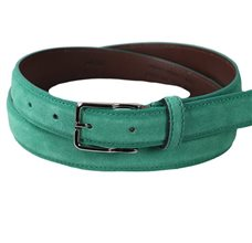 Boy's Green Turquoise Leather Belt