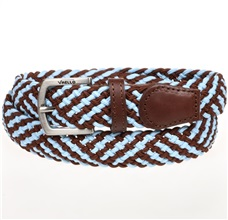 Boy's Sky Blue and Brown Elastic Belt