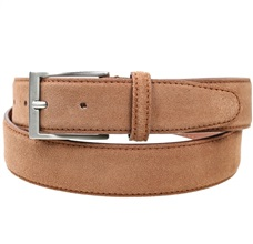 Beige Camel Split Leather Belt