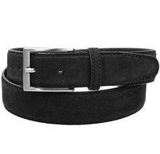 Black Split Leather Belt