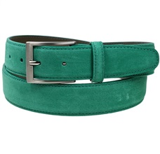 Sea Green Split Leather Belt
