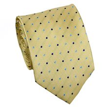 Yellow Tie with Dots