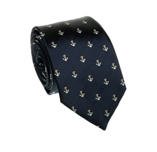 Deep Blue Anchors Tie