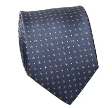 Cobalt Blue and Flowers Tie