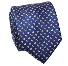 Royal Blue Paisley Design Tie