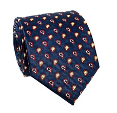 Blue Tie with Red Paisley