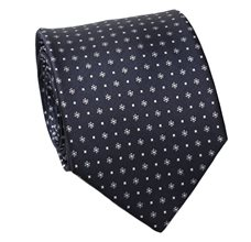 Dark Blue Flowers Tie