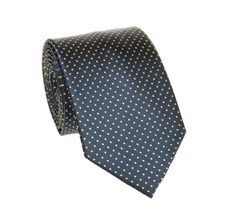Navy Blue and Yellow Dots Tie