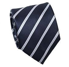 Dark Blue Striped Tie