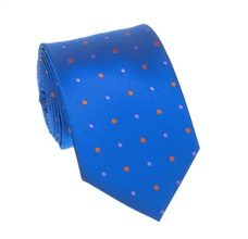 Royal Blue Dots Tie