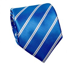 (6292) Dark Blue Striped Tie