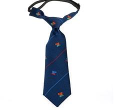 Dark Blue Baby's Tie with Dogs