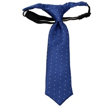 Blue Baby's Tie with White Dots