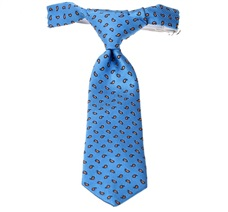 Royal Blue Baby's Tie with Orange Cashmere