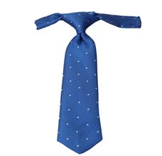 Royal Blue Baby's Tie with White Dots