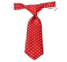 Red Baby's Tie with Blue Cashmere