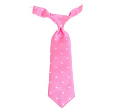 Pink Baby's Tie with White Dots