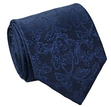 Blue Brocade Silk Tie