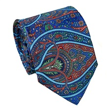 Blue and Red Paisley Tie