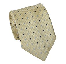 Yellow Teenager's Tie with Dots